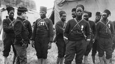 Senegalese Tirailleurs- with more French soldiers dying in 1914 than any other year of war, the French mobilized the men of their colonial holdings.