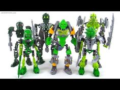 LEGO Bionicle: Old vs. New compared! (representative samples, NOT ALL green products ever) - YouTube