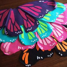 Perfect Butterfly Wings Laser Cut Felt Party by decomodwalls