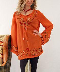 Look at this Tasha Polizzi Orange Newt Suzie Tunic - Women on #zulily today!