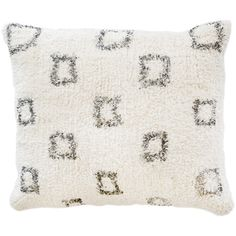 Pom Pom at Home Bowie Hand Woven Decorative Pillow (1850 MAD) ❤ liked on Polyvore featuring home, home decor, throw pillows, plush throw pillows, pom pom at home, geometric home decor, square throw pillows and modern throw pillows