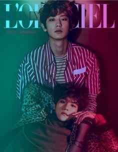 Chanyeol and BaekHyun Exo Chanbaek, Baekhyun Chanyeol, Exo Ot12, Park Chanyeol, Exo Couple, Xiuchen, Kim Jongdae, Kpop Exo, Exo Members