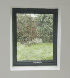Clean Drywall Return at Windows/No Trim … Grey Windows, Upvc Windows, Sash Windows, House Windows, Window Grill, Bay Window, Minimalist Window, Brook House, Aluminium Windows And Doors