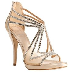 Christian Dior nude mesh 'Starlight' crystal detail sandals ($1,102) ❤ liked on Polyvore featuring shoes, sandals, heels, zapatos, sapatos, women, open toe sandals, nude sandals, high heel platform sandals and platform shoes