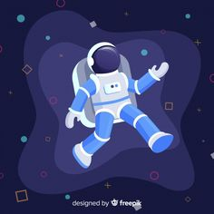Classic astronaut character with flat design Monkey Illustration, Space Illustration, Flat Design Illustration, Space Expedition, Map Geo, Astronaut Cartoon, Design Thinking, Space Doodles, Doodle Icon