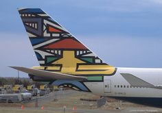 British Airways B747-400, Africa (Ndebele Martha) World Art tailfin
