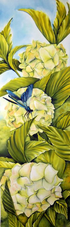 Tender Thoughts ORIGINAL Silk Painting mounted on by tinassilkart, $395.00