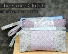 Moda Bake Shop: The Cake Clutch. This is pretty cool. One layer cake, one craft size package of batting and 12 zipper = 12 lined clutches with handle straps. Would be great coworker gifts. Would need to find a small gift for the men.