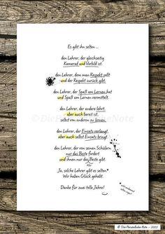 Digitaldruck - Druck/Print: Originelle Geschenkidee für Lehrer/in - ein Designerstück von DiePersoenlicheNote bei DaWanda