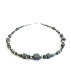 """Necklace with hematite from Collection """"Talea"""" by Ostfriesenkind"""