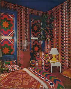 Tented design featured in Home and Garden, 1972
