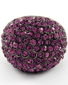 Such a pretty purple.  A great pop of color for any outfit.  Look for big sparklers like these at GOLDY + MAC for $18.