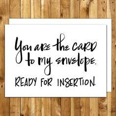 Naughty Card. Naughty Birthday. For Boyfriend. For Husband. For Him. Birthday Card Boyfriend. Dirty Cards. Sexy Card. Ready for Insertion by InANutshellStudio