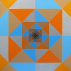 Infinity : Another painting where I used a palette knife instead of a brush. Medium: Acrylic on Canvas Size: x Hard Edge Painting, Palette Knife, Optical Illusions, Thought Provoking, Geometric Shapes, Canvas Size, Pop Art, Infinity, Contemporary Art