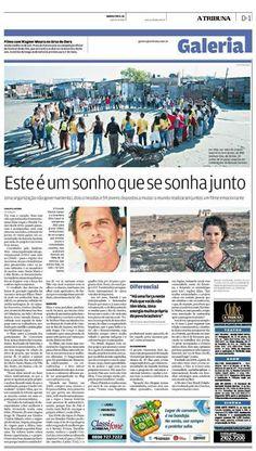 """Matéria sobre a exibição do filme """"Encontros, Sonhos e Realizações"""" no jornal A Tribuna."""