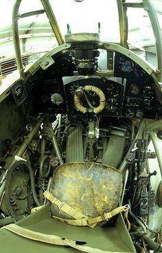 Warbirds — british-eevee: Cockpit of a Hawker Hurricane Mk. Aircraft Photos, Ww2 Aircraft, Fighter Aircraft, Military Aircraft, Hawker Hurricane, Image Avion, Aircraft Interiors, Supermarine Spitfire, Ww2 Planes