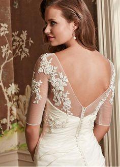 New Design Appliqued White Wedding Wrap Short Jacket For Wedding Bolero With Half Sleeves V Back Wedding Coat ASWP08