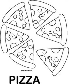 favorite foods coloring pages - Pizza Coloring Pages