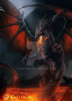 """Black Dragon"" by tira-owl @ deviantart"
