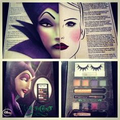 Maleficent makeup inspired make up from Walgreens