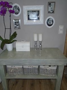 MyLittleFabric: recykling palet drewnianych Entryway Tables, Fabric, Furniture, Home Decor, Tejido, Tela, Decoration Home, Room Decor, Cloths