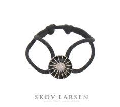 Black or White Daisy - Georg Jensen Silver Pendant Bracelet