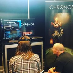 #oculusrift #VR con el juego Chronos @official_gdc #GDC16