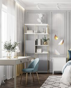 Children's room in which it is comfortable to grow up and dream. Luxury Homes Interior, Luxury Home Decor, Home Interior Design, Ideas Para Organizar, Home Remodeling, Room Decor, Furniture Chairs, Bedroom Furniture, Decoration