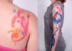 watercolor tattoo by Amanda Wachob, Daredevil Tattoo NYC - I might have to make a pilgrimage.