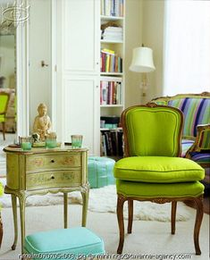 On the hunt for a French chair like this to re-cover. Consignment stores, watch out....ME TOO!