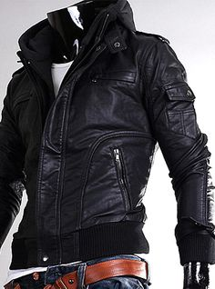 black leather jacket real leather mens - Google Search
