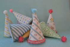 Vintage Homemade Party Hats...step by step tutorial!!  :D