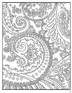 Paisley Designs Coloring Pages Colori