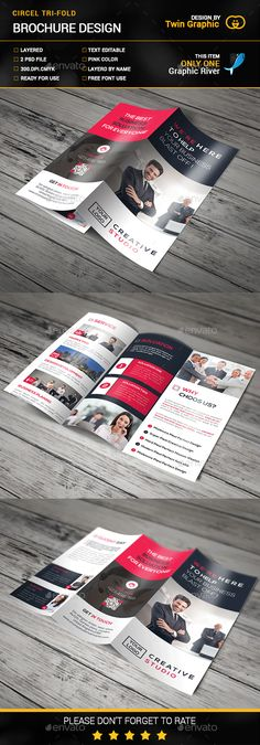 Corporate Tri-Fold Brochure Template PSD. Download here: http://graphicriver.net/item/corporate-trifold-brochure/14667769?ref=ksioks