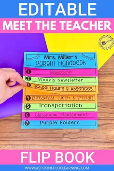 Make meet the teacher and back to school easier for you, your students, and families by placing all of your classroom information in one place! This editable meet the teacher flip book will catch the eyes of your families and not get lost in the mix! Once the flip book is created, you can save it to your computer and have it for years to come with tweaks here and there! This editable meet the teacher flip book can be used in all grade levels! I also have this flip book digitally.