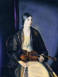 The Violinist Leila Kalman 1924