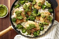Chicken and Rice with Broccoli Pesto