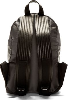 SILENT BY DAMIR DOMA, GREY BAY BACKPACK: leather straps.