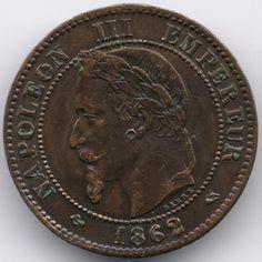 France 2 centimes 1862 K (Bordeaux) op eBid België