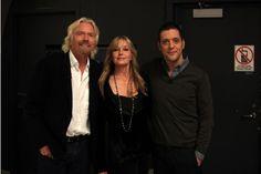 with Sir Richard Branson and Bo Derek...