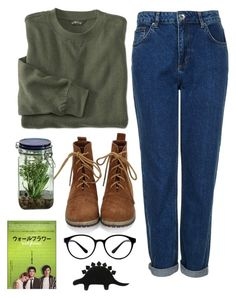 """""""The perks of being a wallflower"""" by caro-medi-romero ❤ liked on Polyvore featuring Topshop, Alöe and Forever 21"""