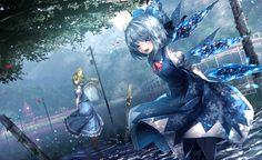 Touhou Collection cirno Les robes Noeud de ruban Anime Filles
