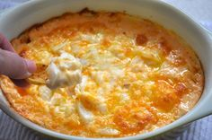 Cheesy Baked Vidalia Dip from SouthernPlate    3 cups freshly shredded cheese (I use 1.5 cups mild cheddar and 1.5 cups mozzarella but you can use all cheddar if you like)  4 ounces cream cheese, cubed  2-3 small Vidalia or other sweet yellow onion, diced  1/2 cup mayonnaise