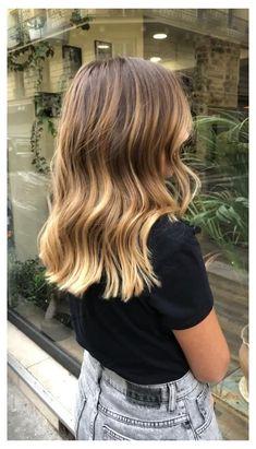 Balyage Long Hair, Brown Hair Balayage, Blonde Hair With Highlights, Brown Blonde Hair, Balayage Brunette, Hair Color Balayage, Balayage Highlights, Brunette Hair, Black Hair