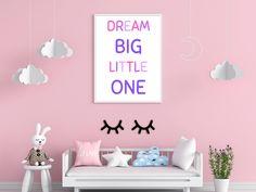 Baby Girl Nursery Decor, Nursery Wall Art, Wall Art Decor, Pink Bedroom For Girls, Girl Bedroom Walls, Online Print Shop, Big Little, First Baby, Dream Big