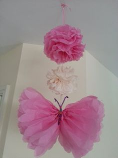 wedding  party decorations tissue paper pom poms by Ohsopretty37, £3.99