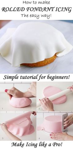 This is the best tutorial for making rolled fondant icing! Easy for beginners and you'll have professional results every time!