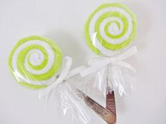 Gender Neutral  Baby Gift 2 Washcloth Lollipop Lollypop Baby Delights