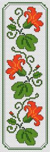 Floral Motif Bookmark cross stitch pattern                                                                                                                                                      More