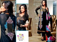 Shaista Eid Collection 2013 | Embroidered Dresses  Black empire waist, sheer, and embroidered.  Especially like the design on the back.